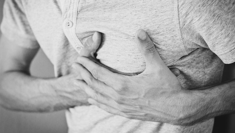 The condition of a person having a heart attack